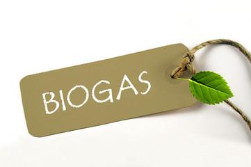 Biogas Plakette aus natürlichem Material