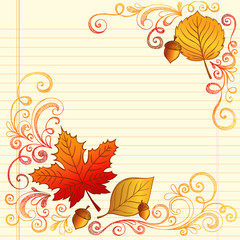 Back to School Autumn Fall Leaves Vector