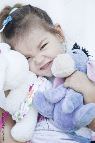 Girl with toy