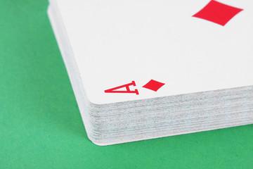 Diamond ace playing card detail,