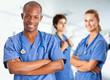 Medical multiethnic team
