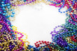 canvas print picture - mardi gras beads