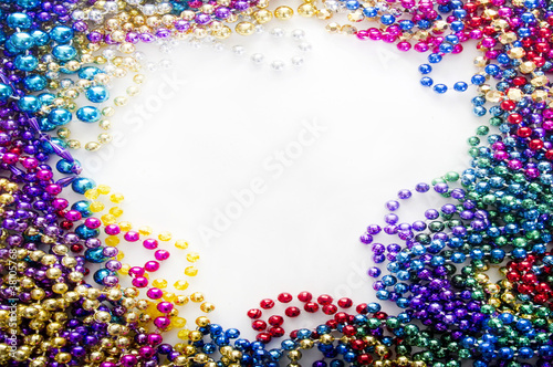 canvas print picture mardi gras beads