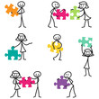 Strichmännchen, Puzzleteile