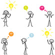 Strichmännchen, Idee, Fragen, Wissen