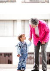 Grandmother and children
