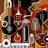 Fototapeta Instrumenty muzyczne - tło