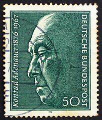 Postage stamp Germany 1976 Konrad Adenauer, Chancellor