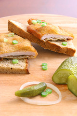 Schnitzel with bread