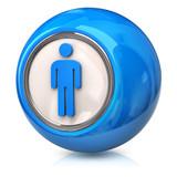 Blue male icon