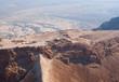 Birdseye view of Masada fortress, Israel