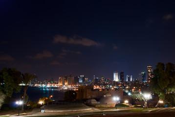 Night view of Tel Aviv seaside, Israel