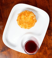 camembert with cranberry sauce