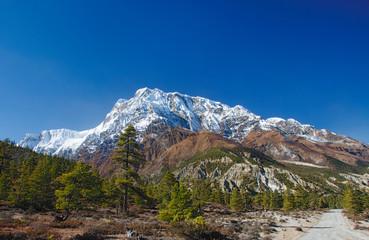 View on   Annapurna mountain of Nepal