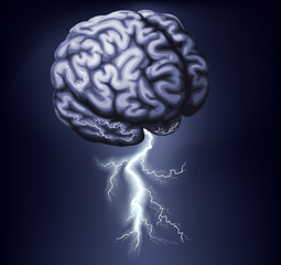 Brain Storm Illustration