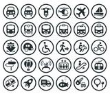 Fototapety Transportation vector icons set