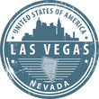 Stamp with name of Nevada, Las Vegas, vector