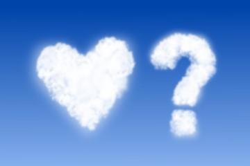 Wolken - Herz und Fragezeichen