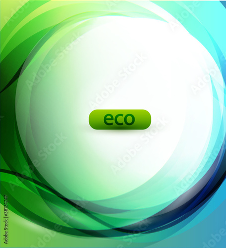 Eco-friendly sphere background