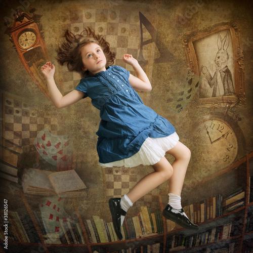 Alice falling down