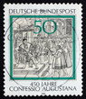 Postage stamp Germany 1980 Reading of Confession of Augsburg to