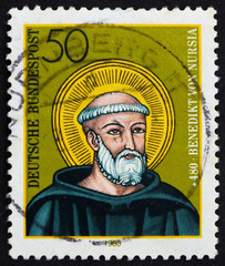 Postage stamp Germany 1980 St. Benedict of Nursia
