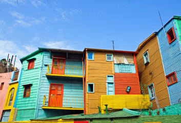 The colourful buildings of La Boca