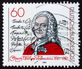 Postage stamp Germany 1981 Georg Telemann, composer