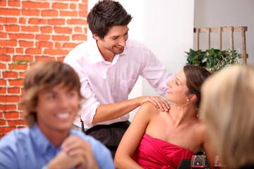 Flirt with a massage