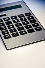 Close up image of calculator