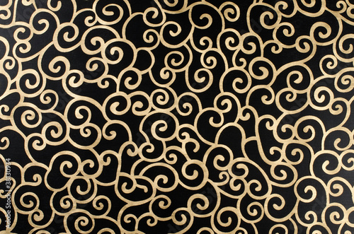 Golden abstract arabesque - 38130934