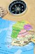 Kompass, Sand, Landkarte. Afrika