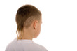Boy eight years. Children's hairdo - series of 5 photos