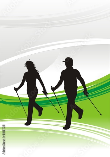 nordic walking green