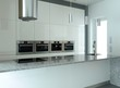 White kitchen with built-in appliances