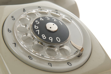 Rotary dial of an old phone