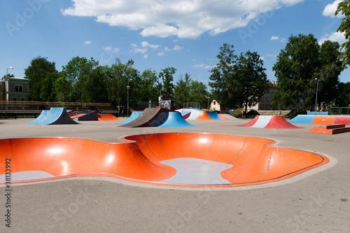 Empty skatepark