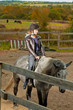 girl rides a horse