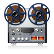 Stereo reel to reel tape deck player recorder vector