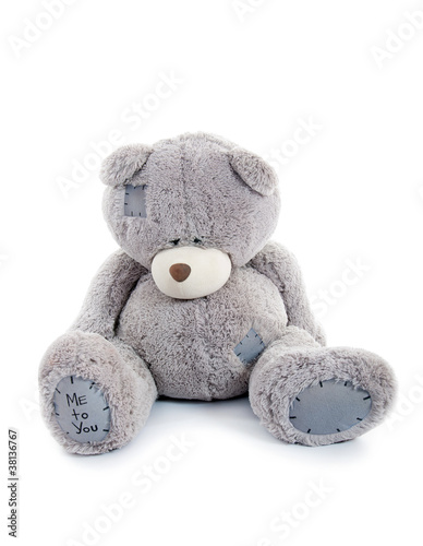 sad teddy bear. isolated