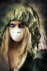 Portrait of post apocalypse girl