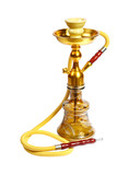 Yellow Hookah on the white background. (isolated)