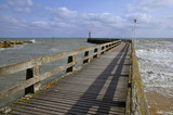 Wooden pontoon at Courseulles in France