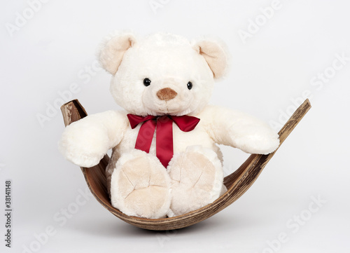 Teddybär in Kokosblatt 2