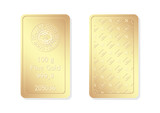 100g minted gold bar