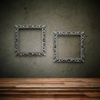 Wohndesign - Betonwand mit Bilderrahmen
