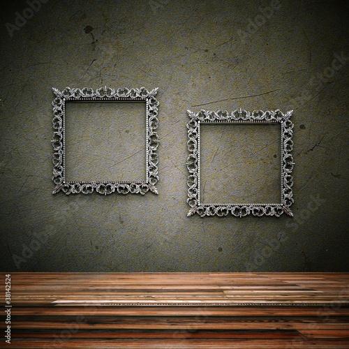 In de dag Wohndesign - Betonwand mit Bilderrahmen