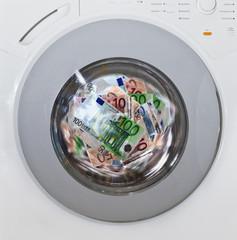 Euros waschen