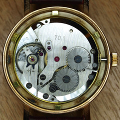 watch mechanism closeup