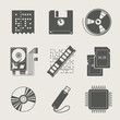 storage information set of icon vector illustration